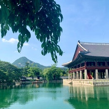 ソウル 景福宮 朝鮮王朝最初の王宮だそうです。 近くでチマチョゴリをレンタルしたので、ここで写真をたくさん撮りました❣️ レンタル屋さんにはたくさんの種類があって選ぶのも楽しかった☺️