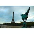France/Paris 朝6時くらいのエッフェル塔