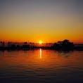 マンダレー郊外にあるウーベイン橋🌉 夕日がとても綺麗でした✨