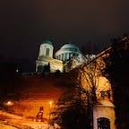 ハンガリー エステルゴム大聖堂です。 ドナウ川の丘の上に建つ姿に魅せらます。