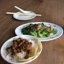 ルーロー飯と青梗菜の炒め物 台湾の定番