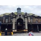 新竹駅舎 東京駅より一年前の1913年に建てられました。訪れた時は修復中。 台湾最古の駅舎。
