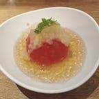 赤白 ルクア大阪店  冷製トマトのおでん トマトのジュレに柚子風味のらっきょジュレのせ  🍅