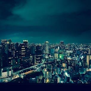 空中庭園からの夜景はほんま綺麗