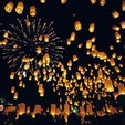 タイチェンマイのロイクラトン祭り🇹🇭 コムローイに願いを込めて、夜空へ放ちます!涙が出るほど感動しました🥺✨✨
