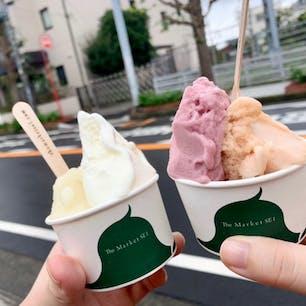 #ザマーケットエスイーワン #江ノ島 #神奈川 2020年9月  フレーバーは季節によって変わるから一期一会 今回はぶどうちゃん(という商品名)と桃🍑🍇