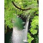 高千穂峡 真名井の滝  橋の上からのアングルが好き。