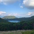 宮崎県えびの市のえびの高原を訪れました。 ニ湖パノラマ展望台からの六観音御池の風景です。