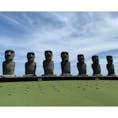 宮崎県日南市 サンメッセ日南のモアイ像です。