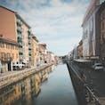 イタリア・ミラノ ナヴィリオ運河 水がある所は癒される