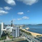 ⋆⸜ Hilton fukuoka seahawk ⸝⋆  お部屋からの眺め🗼🌞 福岡タワーをお部屋から眺める事が 出来ます♡ 夜は夜景がとっても綺麗なんです🌃  #福岡