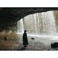 ⋆⸜ 鍋ヶ滝 ⸝⋆  滝の裏側に行ける場所 とってもひんやり気持ちがいい♡  #熊本