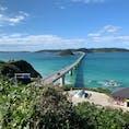 ⋆⸜ 角島 ⸝⋆  海が綺麗〜ッな場所⛱ 車で橋を渡ると気持ちよくて 綺麗な海に見惚れてしまう( ⁎ᵕᴗᵕ⁎ )♡  #山口#角島