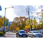 【韓国🇰🇷】ソウル  2年前の今くらいの時期は韓国。 紅葉が綺麗でした🍁  韓国で走ってる車の 7.8割がヒュンダイだった印象。  #韓国° #2018/10/26