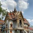ワット スッティ ワラーラーム バンコクBTSサパーンタクシン駅の近く  安くて美味しい飲茶専門店Tuang Dim Sumの帰り道にあったお寺。