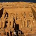 スーダンとの国境近くにあるアブシンベル神殿