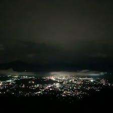 美の山公園  写真では伝わらないけど夜景は凄く綺麗でした!✨