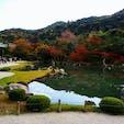 京都嵐山にある「天龍寺」。 紅葉も始まっています🍁 庭園に約1時間滞在してました✨