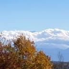 今日の富士山、ほぼ雲の中。ちょびっと見えた。