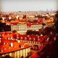 高台からのプラハの街並み