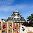 岡山城 風車は秋のライトアップ期間限定だそうです🍁 2020/11/15