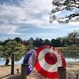 岡山後楽園 秋のライトアップ期間限定で園内の至る所に和傘が設置されています。 ちょうど成人式の前撮りや七五三、結婚式の写真を撮っている方がたくさんいました。 2020/11/15
