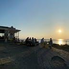 岬カフェ、帰り際の夕焼け。営業は日没までだそうです。