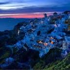 📍Santorini, Greece ギリシャ、サントリーニ島のイアの日没。 本当にもう一度行きたい場所!