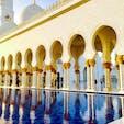 📍Sheikh Zayed Grand Mosque, Abu Dhabi UAEのアブダビにあるシェイク・ザイード・グランド・モスク。 本当に豪華絢爛だった!