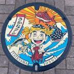 マンホール史上いちばんかわいいと思ったさかなクンのマンホール。館山市の渚の駅たてやまにありました。