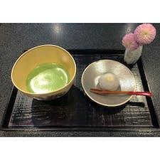 加賀棒茶の丸八製茶場本社に併設されているカフェ。お抹茶とお菓子がついて500円。  #石川