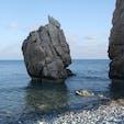 キプロス パフォス近郊クークリアのペトラトゥロミウ海岸 アフロディーテが生まれたところとされるきれいな浜辺