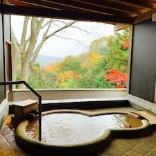 兵庫:有馬温泉  龍泉閣の部屋風呂🍁