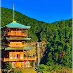和歌山 那智の滝と三重塔