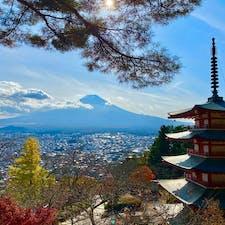 新倉富士浅間神社から富士山。