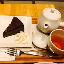 2020.12.06 nana's green tea  イオンモール高岡 抹茶ガトーショコラとほうじ茶セット