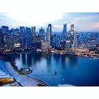 マリーナベイサンズと金融街   #financialdistrict #bayfrontavenue #singapore #marinabaysands #infinitypool #シンガポール #アジア #マリーナベイサンズ  #旅行 #海外旅行 #夜景