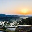 [2018/04] 新潟県。星峠の棚田。 朝靄が幻想的な景色を創り出すらしいのですが、この時はちょっと足りなかったです...。