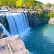 原尻の滝 うっすら虹もかかっていました😄  #原尻の滝 #滝 #渓谷 #滝巡り #大分観光 #大分の風景 #大分   #waterfall