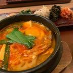 . KOREAN 水刺間🥘  新丸ビルの中にあるお店。 チゲ定食が安くて美味しい✨ 辛さも程よい感じでした。
