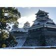2020大晦日の加藤神社から見た熊本城