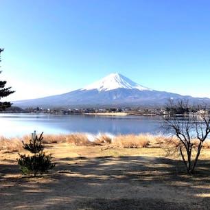 富士山 山中湖から富士山を見る。  #富士山 #山中湖 #サント船長の写真