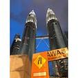 PETRONAS Twin Tower(🇲🇾)  3年前の父とマレーシア2人旅 写真で見てたよりも、いざ目の前にするとこんなにも迫力が凄い、、!