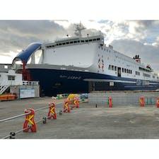 本日、乗船のフェリーふくおかⅡ 名門大洋フェリー完全制覇 😎😎😎😎😎 2021/12,2022/3にきょうとⅡと ふくおかⅡが新造船🚢でそれぞれデビューするらしい❓😁😁😁😁 船名は未定らしい🤭🤭🤭