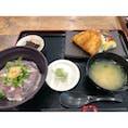 静岡県沼津市内浦の方にある「いけすや」さんの活あじ丼と分厚いアジフライ!  (最近は出張もないので過去に行ったとこの写真でも載せましょうかね...?)