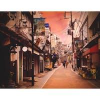 #谷中商店街 #昭和レトロ  夕焼けが似合う街📸素敵☺️