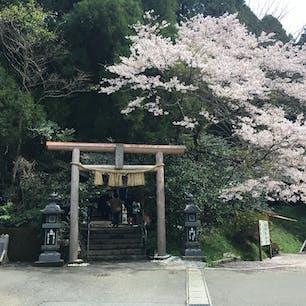 くしふる神社から山道を通って行けます。