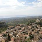 カラブリア州ジェラーチェの展望台から ここも山の上にある小さな街 最も美しい村加盟