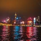 クリスマスに近い時期だと花火あり🎆 #香港 #シンフォニーオブライツ