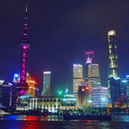 上海っぽいサイバーパンクな夜景🌃 #中国 #上海
